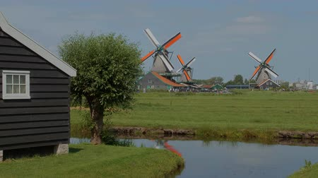 falu : A park of Windmills in Holland - AMSTERDAM - THE NETHERLANDS - JULY 19, 2017