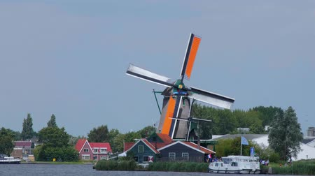 falu : Small village in the Netherlands with the typical Windmills - AMSTERDAM - THE NETHERLANDS - JULY 19, 2017