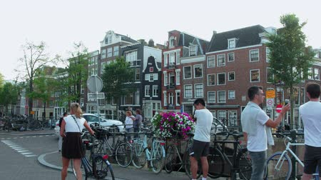 kültür : Walking through the beautiful city of Amsterdam - AMSTERDAM - THE NETHERLANDS - JULY 19, 2017