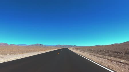 great indian desert : Empty streets in the Californian desert - Death Valley National Park