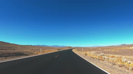 great indian desert : Driving through Death Valley National Park - endless streets in the desert