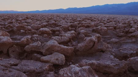 great indian desert : The rough sturcture of Devils Golf Course in Death Valley California