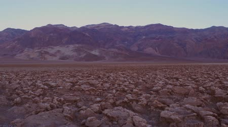 great indian desert : Rough grounds at Devils Golf Course in Death Valley National Park Stock Footage