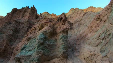 great indian desert : Awesome landscape at the Golden Canyon - Death Valley National Park Stock Footage
