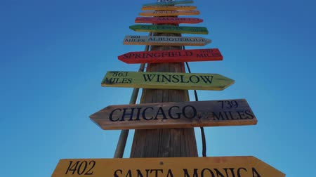 rota : Direction signs to famous cities at Route 66