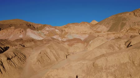 great indian desert : Amazing Artists Palette at Death Valley National Park in California Stock Footage