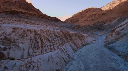 great indian desert : Amazing Mosaic Canyon at Death Valley National Park California Stock Footage