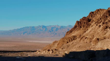 great indian desert : Wonderful Death Valley National Park at sunset Stock Footage