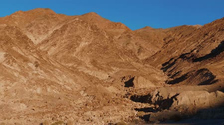 great indian desert : The golden rocks of the Golden Canyon at Death Valley National Park