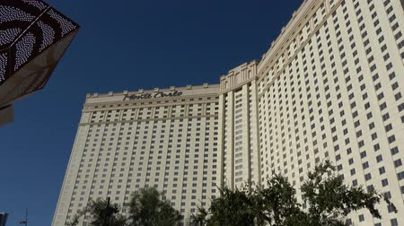 blackjack : Famous Monte Carlo Hotel and Casino in Las Vegas - USA 2017