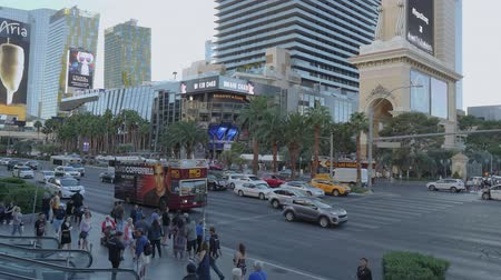 blackjack : Street traffic on Las Vegas Boulevard - USA 2017