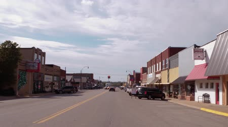 oklahoma : Driving through the beautiful small town of Stroud - USA 2017