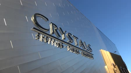 Вегас : Amazing Crystals Shopping Center in Las Vegas - located at the strip - USA 2017 Стоковые видеозаписи