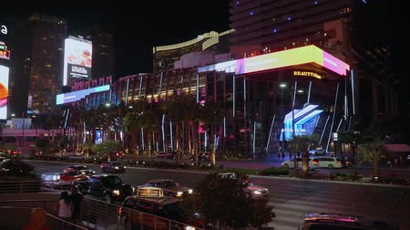 neon lights : The modern Cosmopolitan Hotel and Casino in Las Vegas - USA 2017