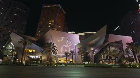 as : Crystals shopping mall and modern Hotels at Las Vegas strip - USA 2017