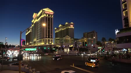 as : Beautiful street view of Las Vegas strip by night - USA 2017