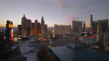 as : Las Vegas in the evening - the famous Hotels at the strip - USA 2017