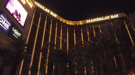 blackjack : Mandaly Bay Hotel and Casino in Las Vegas at night - view from Las Vegas Boulevard - USA 2017