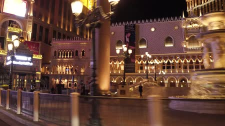 ace : Venetian Hotel and Casino in Las Vegas at night - view from Las Vegas Boulevard - USA 2017