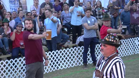 oklahoma : Beer Contest at Tulsa Octoberfest - USA 2017 Stock Footage