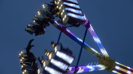oklahoma : Fun ride attractions at Octoberfest fair in Tusla - USA 2017
