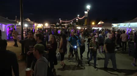 oklahoma : Crowds of party people at Tulsa Octoberfest - USA 2017