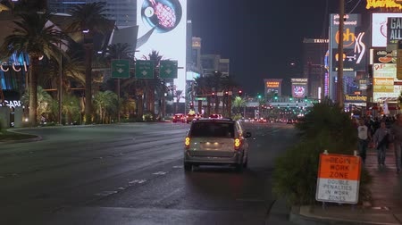 as : Famous Las Vegas Boulevard at night also called the Strip - USA 2017