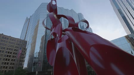 széna : Modern sculpture at Oklahoma City downtown area - USA 2017