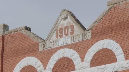 oklahoma : Former telephone office in the city of Stroud in Oklahoma - USA 2017 Stock Footage