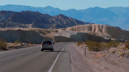 great indian desert : Beautiful scenery route through Death Valley National Park in California - USA 2017 Stock Footage