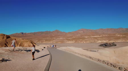great indian desert : Death Valley National Park on a sunny day - beautiful Californian desert - USA 2017 Stock Footage