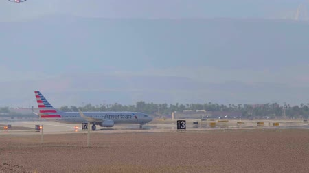 landing field : The runway of an airport - USA 2017 Stock Footage