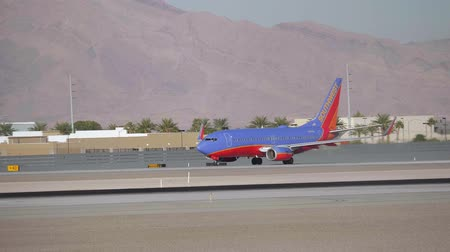 landing field : Southwest aircraft on the runway in Las Vegas - USA 2017