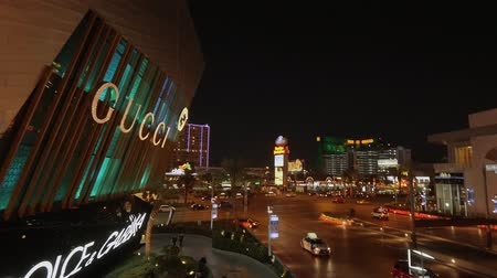 as : Gucci magasin à Crystals à Las Vegas de nuit - États-Unis 2017