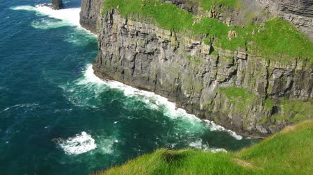 kerry : World famous Cliffs of Moher in Ireland Stock Footage