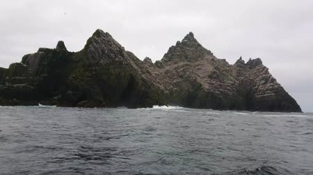 irsko : Puffin Island - The Skellig Islands in Ireland - home for 70000 birds