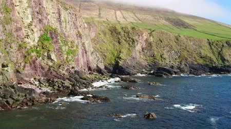 irlanda : Amazing landscape on beautiful Dingle Peninsula in Ireland - blue ocean water