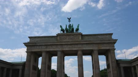 arka görünüm : Famous landmark in Berlin - The Brandenburg Gate called Brandenburger Tor