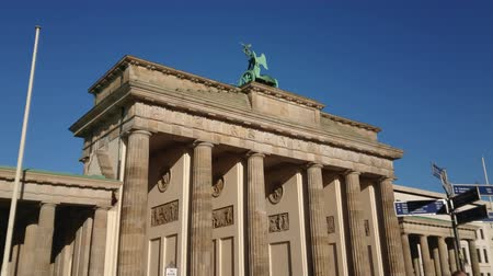 berlin skyline : Famous landmark in Berlin - The Brandenburg Gate called Brandenburger Tor