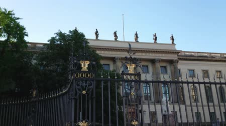 kolumny : Famous Humboldt University in Berlin