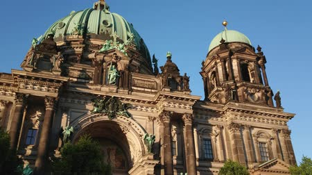 tor : The facade of Berlin Cathedral Stock Footage