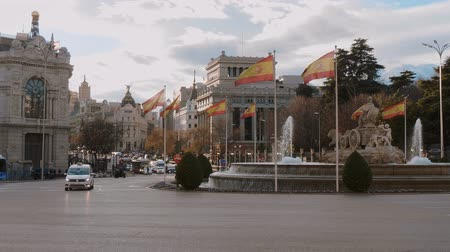 építészeti : The fountain of Cibeles in Madrid at Cibeles Square