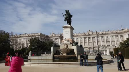 králové : Plaza de oriente Square at the National Palace in Madrid