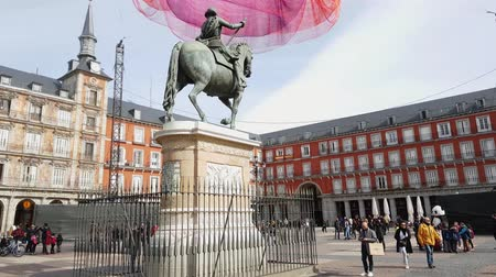 facciate : Monumento a Felipe III in Plaza Mayor a Madrid