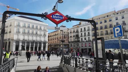 król : Famous Square in Madrid city center - the Puerta del Sol Square