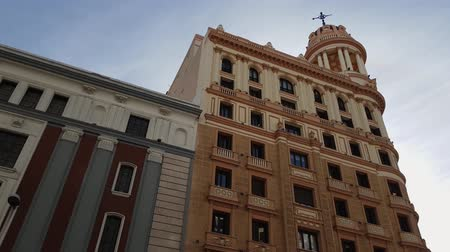 maravilhoso : Wonderful mansion in the historic district of Madrid Stock Footage