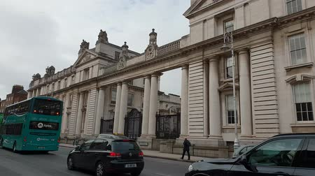 governo : The Department of the Taoiseach in Dublin - Government buildings Vídeos