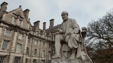 pedestre : George Salmon Provost monument at Trinity College in Dublin Vídeos