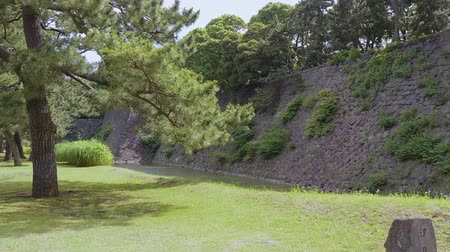 japonská kultura : Remains of Edo Castle at Imperial Castle Garden in Tokyo