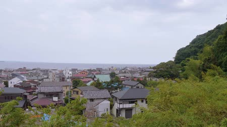 japonská kultura : Wide angle view over the city of Kamakura in Japan